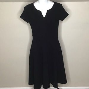 Ann Taylor Black Fit and Flare Dress